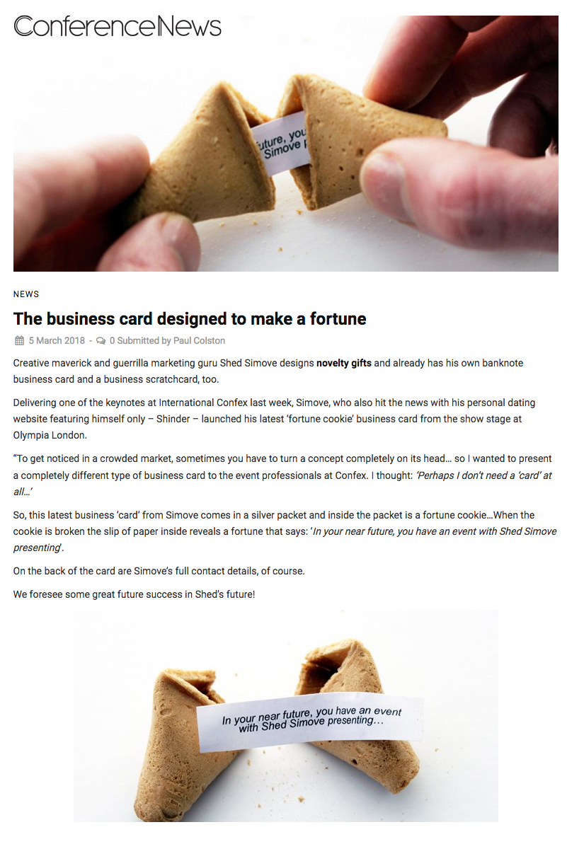 Fortune cookie business card in conference news shedsimove fortune cookie business card in conference news colourmoves